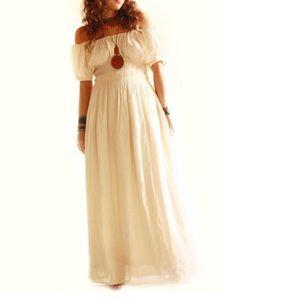 Mexican Dress Bohemian Maxi Aurora Off Shoulder